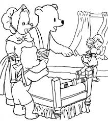 and the three bears coloring page