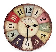 Grande Horloge Murale Carrée En Bois Vintage Achat Meilleur Vente Nouveau Grand En Bois Horloge Murale Ronde Vintage