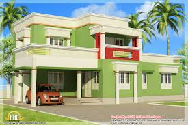 view 2 of simple flat roof house alluring simple house designs