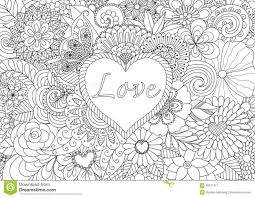 heart flowers stock vector image 65671971