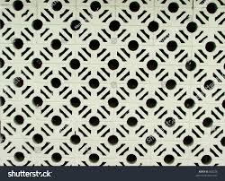 ornamental concrete block wall stock photo 802226