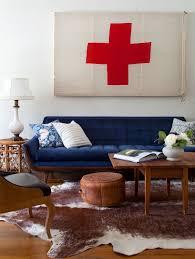 Living Room With Blue Sofa by Blue Sofa Living Room