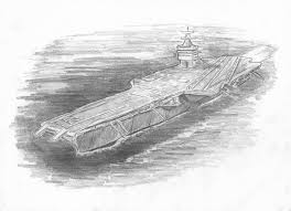 enterprise aircraft carrier drawing by michael penny