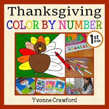 thanksgiving color number grade color addition