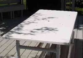 36 Patio Table Fiberglass Outdoor Tables And Bars With Pvc Bases