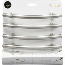 poignee cuisine entraxe 128 lot de 4 poignées de meuble margaud acier brossé entraxe 128 mm