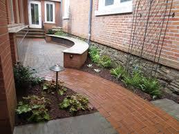 Curved Garden Wall by Memorial Garden Design Concept Presbyterian Church In Geneva