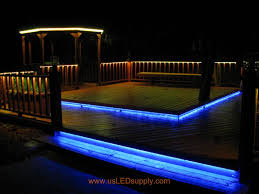 Rgb Landscape Lights Rgb Led Strips Lighting Up An Outside Deck Changing