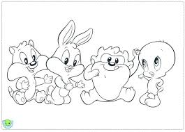baby looney tunes coloring pages getcoloringpages