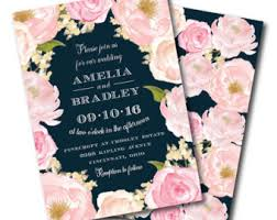 navy and blush wedding invitations navy blush and wedding invitation floral wedding