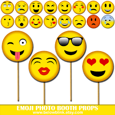 emoji photo props printable photo booth props smiley party