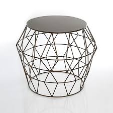 Wire Side Table Embrace Geometry With This Openwork Side Table The Metal Wire