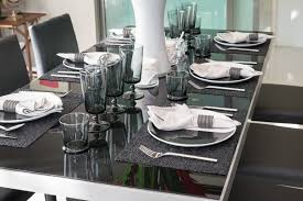 white modern dining table set 27 modern dining table setting ideas place setting cloth napkins