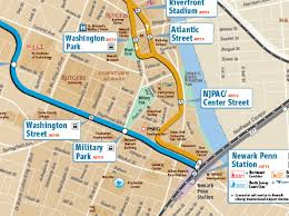 map of penn station prudential center getting here