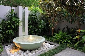 minimalist courtyard lighting fountain design felmiatika dma