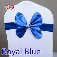 royal blue chair sashes royal blue colour wedding chair sash mini style butterfly bow tie