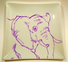 an elephant a day 2 0 elephant no 3 permanent markers on ceramic