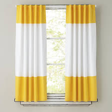 Yellow Curtains Nursery 100 Cotton White And Yellow Lovely Stripe Curtain For Children S
