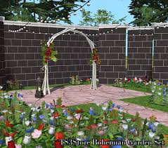 wedding arches in sims 4 ts3store bohemian garden set converted for ts2 recolours this