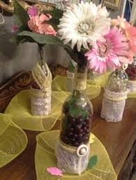 Wine Bottle Centerpieces Wine Bottle Centerpieces Filled With Plastic Grapes Clever