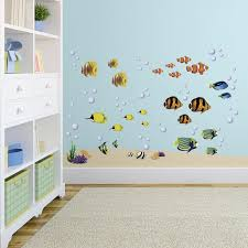 amazon com under sea decorative peel and stick wall art