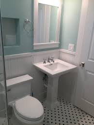 trifection charms with vintage guest bathroom in the heights