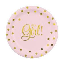 baby shower autograph plate plain design baby shower plates ideas girl zazzle