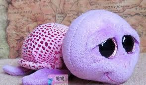 2017 ty big eyes plush toys purple tortoise 15cm beanie boo u0027s