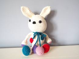 crochet handmade white bunny rabbit amigurumi home decor kids baby