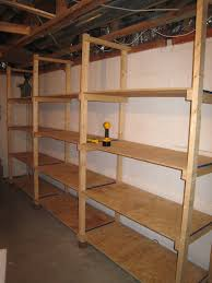 basement wall shelving