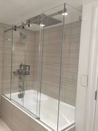 image result for 2 wall alcove tub glass tub enclosure