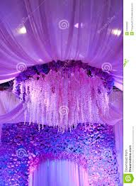 wedding flowers background design stage royalty free stock photo