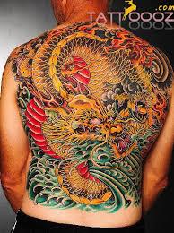 tattoo back japanese colorful japanese dragon tattoo on back tattooshunt com