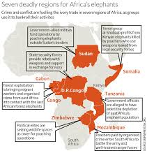 Regions Of Africa Map by Ivory Poaching Funds Most War And Terrorism In Africa New Scientist