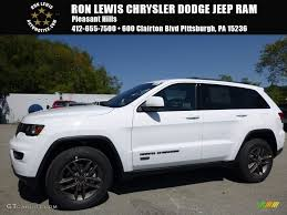 2017 jeep grand cherokee 2017 bright white jeep grand cherokee 75th annivesary edition 4x4