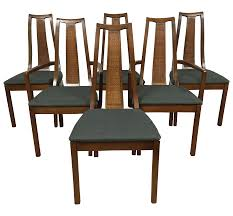 Cane Back Dining Room Chairs Mid Century Cane Back Dining Chairs Set Of 6 Chairish