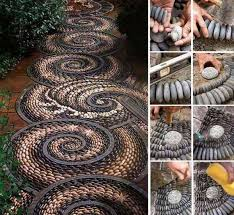 how to make a pebble mosaic stone rock and flat stone