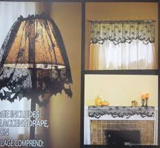 halloween spider web bat lamp shade cover spider black lace sheer