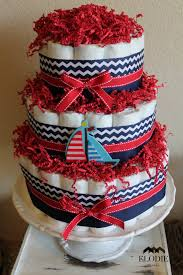 red and navy nautical baby shower project nursery
