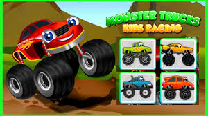 monster trucks game for kids 2 car race puzzle coloring book