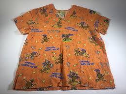 halloween scrubs tops scooby doo nurse scrub size xs small scrubs uniform smock blue vet