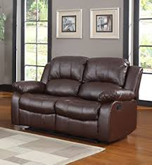 Two Seater Recliner Chairs Amazon Com Classic And Traditional Bonded Leather Recliner Chair