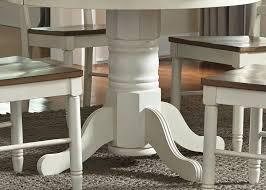 Pedestal Dining Room Set Springfield Honey And Cream Extendable Pedestal Dining Room Set