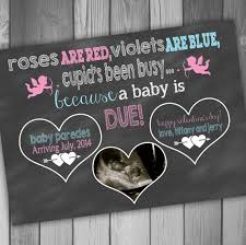 pregnancy announcement card valentines day photo