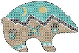 endless inspirations original cross stitch pattern native
