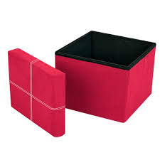 storeasy micro faux suede storage ottoman rose pink single seat