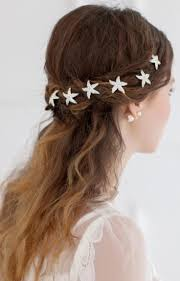 starfish hair clip aliexpress buy 6pcs lot rhinestone wedding hairpins starfish