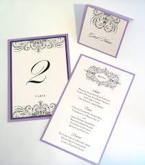 Wedding Reception Program Sample Thalia Scroll Wedding Reception Items Menu Table Number