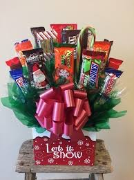candy gift baskets let it snow candy bouquet