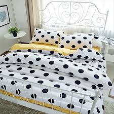 luxury black and white polka dot duvet cover set classic 4 piece